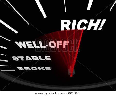 Velocímetro con Neelde a ricos