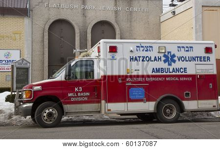 Hatzolah volunteer ambulance in Brooklyn, New York