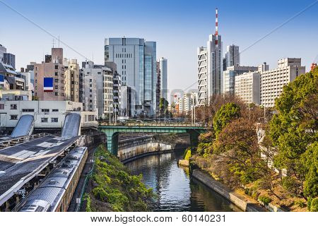 Tokyo, Japan at Ochanomizu. The district is home to several universities.