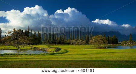 Cloud Over Golf Course