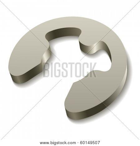 vector retaining snap ring circlip icon