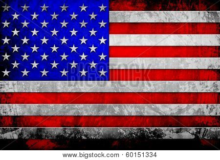 old metal flag Of USA