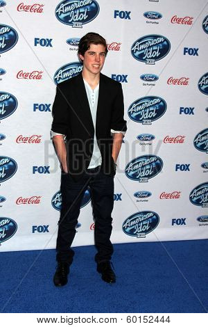 LOS ANGELES - FEB 20:  Sam Woolf at the American Idol 13 Finalists Party at Fig & Olive on February 20, 2014 in West Hollywood, CA