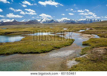 Small lakes in Arabel valley, Tien Shan