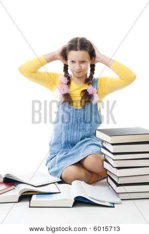 Teenager Girl Have Problems In Education