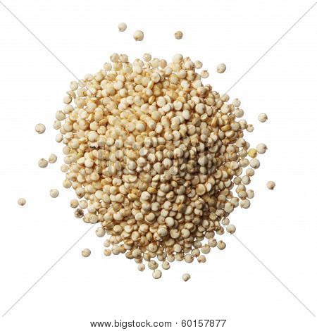 Pile Of Quinoa Grain Isolated On A White Background