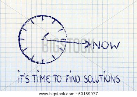 The Time Is Now, Find Solutions