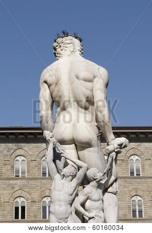 Neptune statue in Florence Italy
