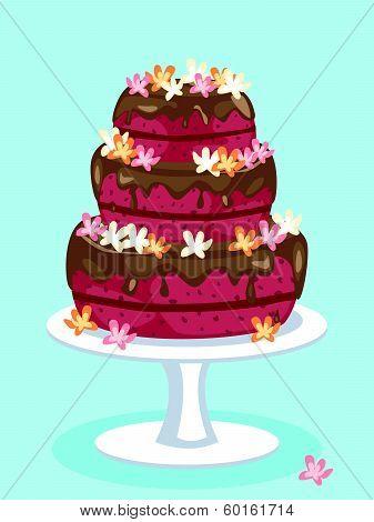 Red Velvet Cake Card