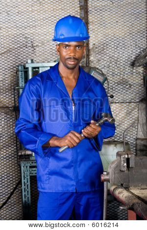 African american factory worker