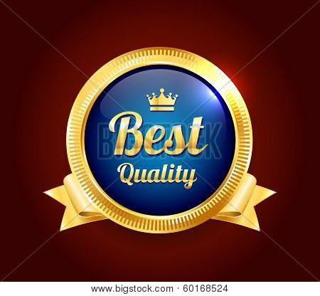 Golden Best Quality Badge