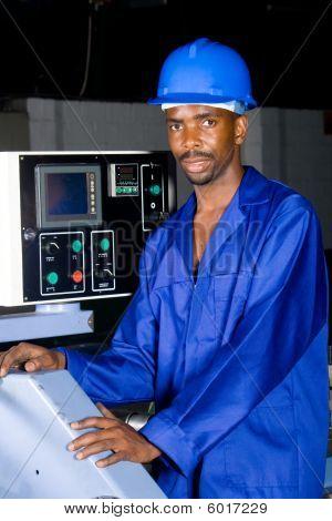Modern factory worker
