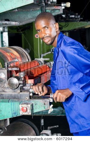 Printing machine operator