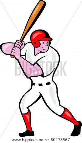 Baseball Player Batting Cartoon