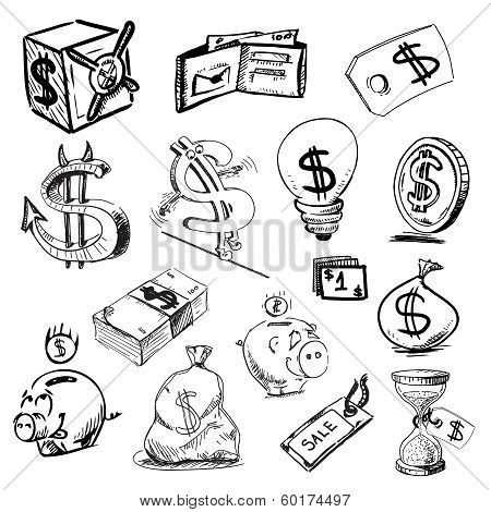 Finance and money icons collection
