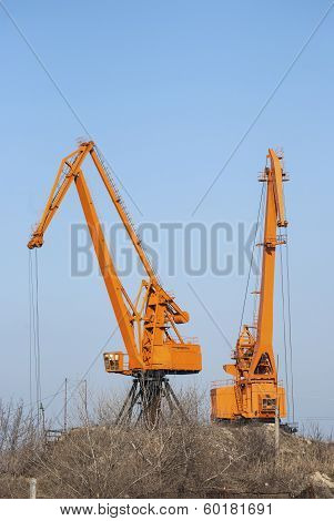 Industrial port cranes