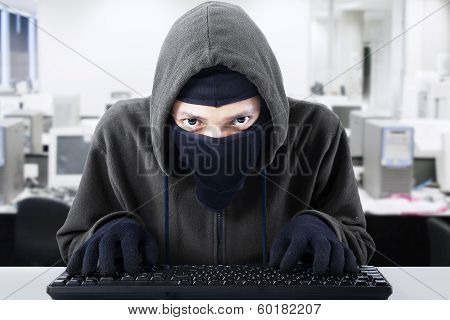 Hacker Stealing Business Information