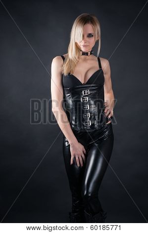 seductive woman in a corset