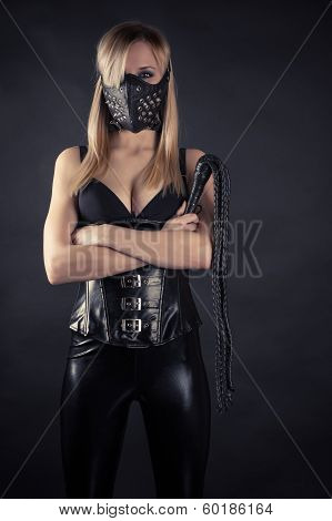woman slave in a mask