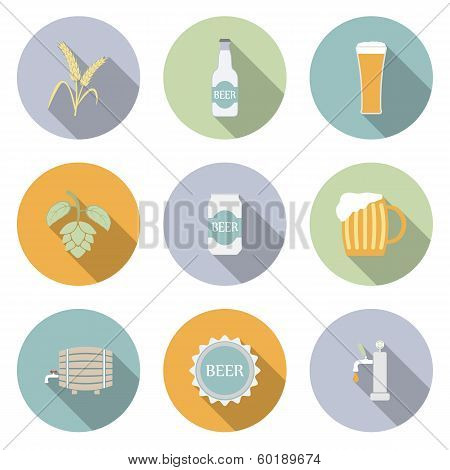 Beer Vector Flat Icons