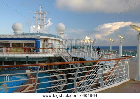 Billowing Clouds From Deck Of Cruise Ship In Alaska