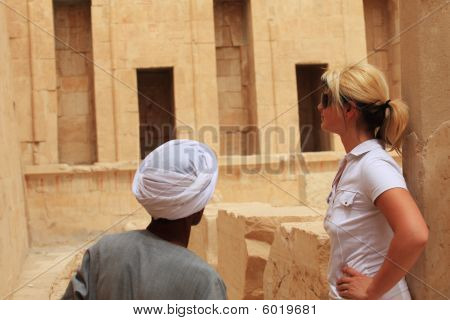 Egyptian Man And Tourist