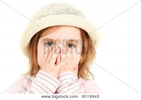 Close-up Portrait Of Young Girl in Hat