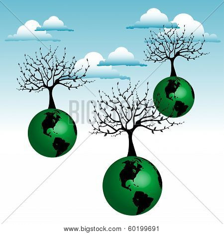 Floating trees