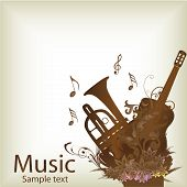 pic of wind instrument  - a pair of brown instruments in white background - JPG