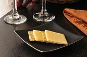 image of shredded cheese  - Shredded whole wheat crackers with smoked gouda cheese - JPG