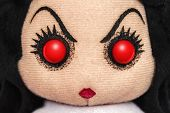 stock photo of rag-doll  - Angry Scary Evil Devil Rag Doll Toy - JPG
