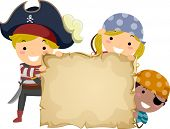 picture of pirate girl  - Illustration of Little Kids Dressed in Pirate Costumes Holding a Papyrus - JPG