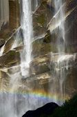 Waterfall known as Vernal Fall falling on a smooth wall of granite in Yosemite National Park, California, USA poster