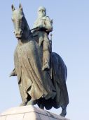 foto of braveheart  - Monument to Robert the Bruce at Bannockburn - JPG