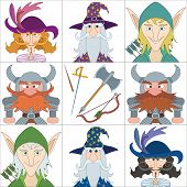 foto of rapier  - Avatar faces of fantasy brave heroes - JPG