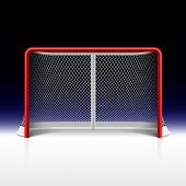 stock photo of hockey arena  - Ice hockey net - JPG