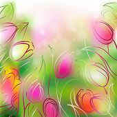 Vector Background Tulips