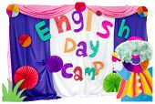 English Day Camp Backdrop
