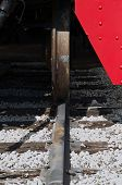 pic of train-wheel  - close up of a train wheel on the train track - JPG