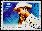 CUBA - CIRCA 2004: A stamp printed in Cuba shows artist, musician, entertainer Benny Maro  circa 200