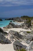 View of an secluded beach on the south shore of Bermuda.