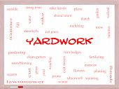 Yardwork Word Cloud Concept On A Whiteboard poster