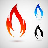 image of ignite  - Simple fire elements in red - JPG