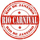 picture of carnival rio  - Grunge rubber stamp with text Rio Carnival - JPG
