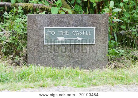 Very Old Sign - To The Castle