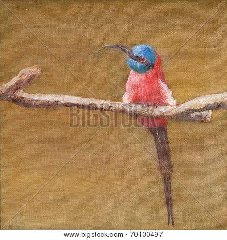 Painting Of Carmine Bee Eater
