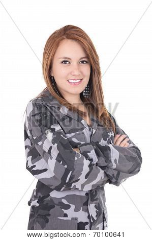 Young military girl