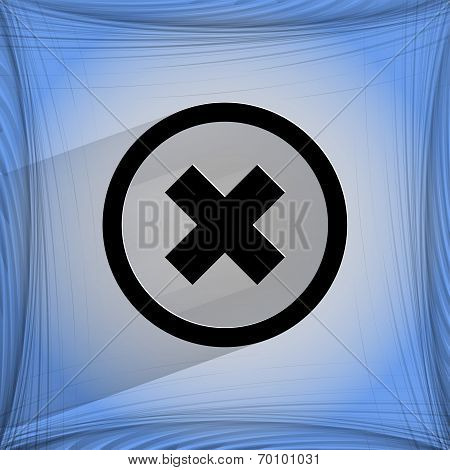 cancel. Flat modern web design on a flat geometric abstract background