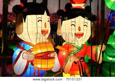 Chinese human cartoon lanterns