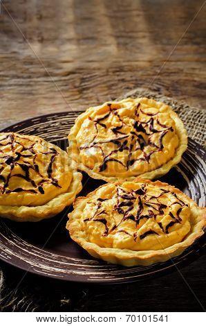 Tartlets With Pumpkin Cream For Halloween For Kids